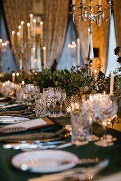 Candlelight illuminated the event setting, creating a warm and welcoming ambience for this exquisite banquet-style dining experience. Photography by @white_cat_studio Venue @dromolandcastlehotel Planning and Design @oliviabuckleyinternational #welcomedinner #eventdecor #eventdesign #floraldesign #eventplannerireland #weddingplannerireland #weddingplanner #partyplanner #privateparties #partyinspiration #partyplannerinireland #ireland #irishplanner