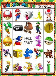 Mario Birthday Invitations Free New Super Mario Brothers Bingo 10 Card Super Mario Party, Super Mario Bros, Mario Party Games, Super Mario Games, Super Mario Birthday, Mario Birthday Party, Super Mario Brothers, Mario Games For Kids, 7th Birthday