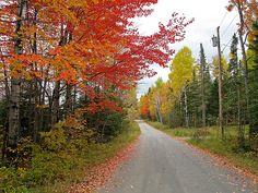 Herbst bei Stratton, Flagstaff Lake - Maine