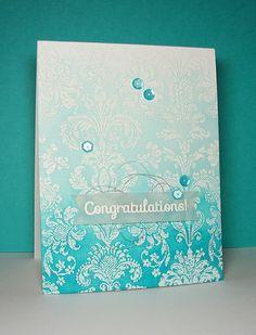 ...Enjoying Life...: Ombre Wedding Card