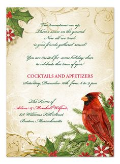 Cardinal - Holiday Invitations by Invitation Consultants. (IC-GD-NT-38 )