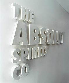 http://www.gensler.com/#projects/171 Dimensional Lettering