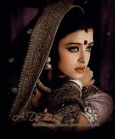 "Beautiful Aishwarya Rai as Parvati ""Paro"" in Devdas (2002)"