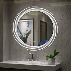 Good purchase Bode Back Lit LED Daylight Bathroom Mirror By Orren Ellis Led Mirror Bathroom, Bathroom Colors, Bathroom Pictures, Bathroom Flooring, Mirror With Lights, Mirror Designs, Tile Bathroom, Bathroom Sets, Mirror