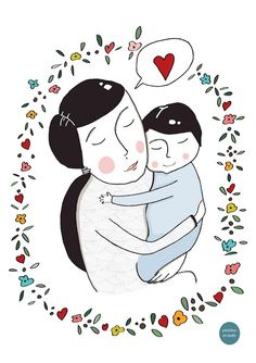 Pintolines art studio - Mother's day illustration