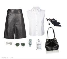 Trini blog | 3.1 Phillip Lim leather culottes The Row bag