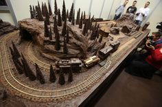 A chocolate train and railway made by Polish confectionery company E Wedel is displayed on a stand during the International Chocolate and Sweets festival at the Palace of Culture and Science. Chocolate Festival, Picture Editor, Christmas Wonderland, Science Photos, Christmas Chocolate, S Pic, Confectionery, Palace, Highlights