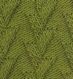Stacked V's cables free knitting stitch pattern/chart.