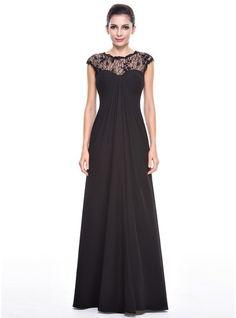 Empire Scoop Neck Floor-Length Chiffon Lace Evening Dress With Ruffle  Beading Sequins Cheap Formal. Cheap Formal DressesCheap ... 3a97186d39b4