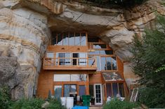 a home built in a cave.  you can read more about it on the link, but I think its just awesome....