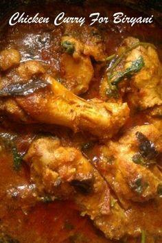Chicken Curry For Briyani.