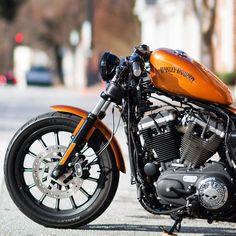 Harley Davidson Sportster 1200, Harley Davidson Iron 883, Custom Sportster, Harley Davidson Motorcycles, Custom Motorcycles, Custom Bikes, 883 Harley, Harley Bikes, Michael Johnson