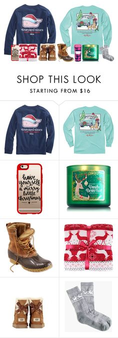 """""""Season Favorites"""" by carlynr ❤ liked on Polyvore featuring Vineyard Vines, Casetify, L.L.Bean, UGG Australia, J.Crew, Lilly Pulitzer and 30DaysOfChristmas2k16"""