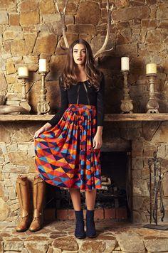 Aztec Midi Skirt