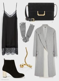 Zara dress, Saint Laurent Suede Lulu bag, Acne scarf, Stella McCartney coat, Paula Mendoza ring, Opening Ceremony boots.