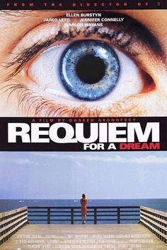Requiem for a Dream is a 2000 drama film directed by Darren Aronofsky and starring Ellen Burstyn, Jared Leto, Marlon Wayans and Jennifer Connelly. Its about the drug-induced utopias of four Coney Island individuals are shattered when their addictions become stronger.