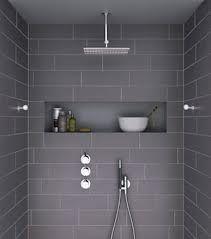 bathrooms - ensuite - shower nook - rainhead - dark tiles - Google Search