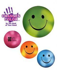 Mood Smiley Face Stress Ball - Customizable