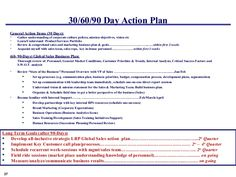 30 60 90 Day Action Plan Template | info | Pinterest | Best ...