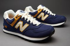 New Balance ML574 Rugby - Mens Select Footwear - Blue-Yellow