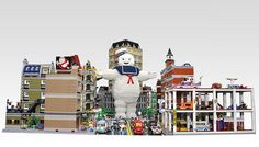 Enormous LEGO Stay Puft Marshmallow Man Takes Down New York City / 2014