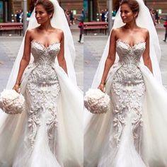 Detachable Wedding Dresses (1) #weddingdress