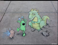 Adorable work by David Zinn