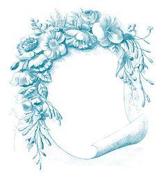 for cards or crafts. *The Graphics Fairy LLC*: Vintage Clip Art - Gorgeous Floral Frame Clip Art Vintage, Vintage Frames, Vintage Prints, Vintage Floral, Vintage Bee, Vintage Sheet Music, Art Floral, Vintage Stuff, Vintage Paper