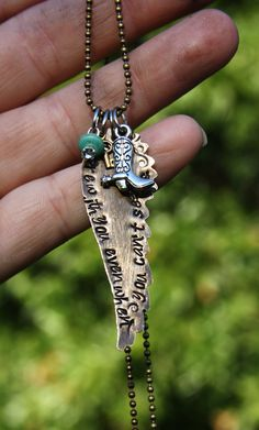 """We Are With You Even When You Can't See Us"" Necklace http://shelbilavender.com/necklaces-2/023-4/ Direct Link"