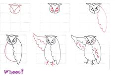 Whoot!-Tangle pattern by molossus, who says Life Imitates Doodles, via Flickr