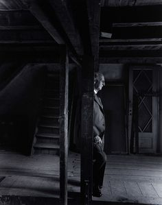 Otto Frank, Anne Frank House, Amsterdam, 1960, by Arnold Newman