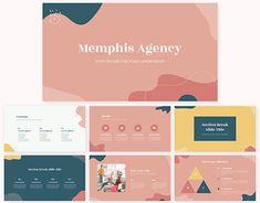 Powerpoint Design Templates, Keynote Template, Presentation Design, Presentation Templates, Typography, Behance, Letters, Conception, Memphis