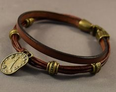 T-L967 Genuine leather bracelethandmade leather by tongtongpearls