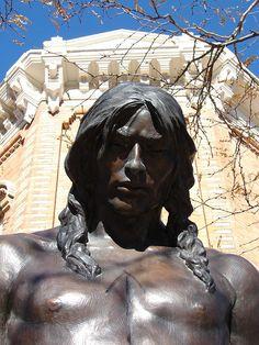 Rapid City, South Dakota Native American Statue by Lufitoom, via Flickr  Statue by Glenna Goodacre