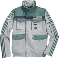 Adidas, Star Wars, Boba Fett jacket. I love it!