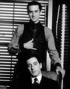 Don Vito & Michael Corleone Wow a room of handsomeness
