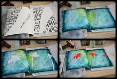 I am back in the Studio and decided to pull the art journal out to just paint for me. Sometimes you just have to do that! Here is the page I created… I snapped these photos in the process… Enjoy this time lapse video as …