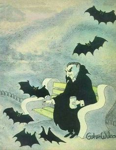 Looks like Count Dracula and friends. Photo Halloween, Halloween Prints, Halloween Pictures, Holidays Halloween, Spooky Halloween, Vintage Halloween, Dark Fantasy, Art Bizarre, Imprimibles Halloween