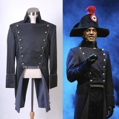 Musical Les Miserables Norm Lewis Javert Jacket Costume Black Ver Custom Made], in [Clothes, Shoes & Accessories, Fancy Dress & Period Costume, Fancy Dress | eBay