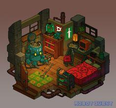 Robot Quest Player Room | Concept Cookie