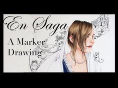 En Saga, a marker drawing