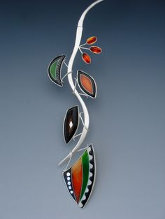 Detail of necklace by Lisa Hawthorne.