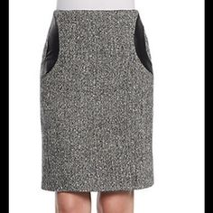 Amazing leather and houndstooth skirt Amazing leather and houndstooth skirt by Raoul Raoul Skirts Midi