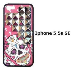 wildflower ワイルドフラワー スカル Pink Sugar Skull Silver iPhone 5 5s se Case スタッズ iphonese ケース ハード カバー おしゃれ ブランド