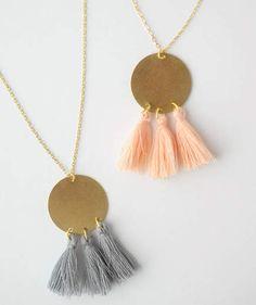 DIY Gold Tassel Necklace
