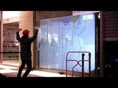 Installation Interactive Kinect + Processing - YouTube Installation Interactive, Interactive Projection, Interactive Walls, Interactive Display, Interactive Media, Digital Kiosk, Digital Retail, Digital Signage, Interaktives Design