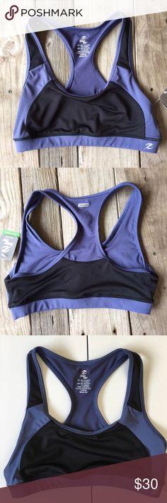 NEW Black & Blue Sports Bra Size Medium 8/10 Brand new with attached tags. Energy Zone Intimates & Sleepwear Bras