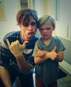 Matthew Gray Gubler & mini-me