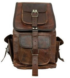 Steampunk Leather Backpack Leather Picnic Bag por leatherstreet11, $69.00