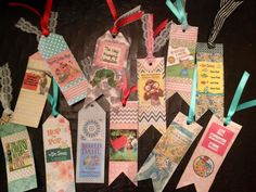 Bookmark/food labels for storybook baby shower.  For Baby Lopez